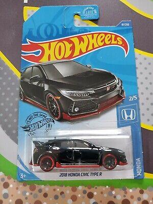 2018 Honda Civic Type R #81 * BLACK * 2020 Hot Wheels