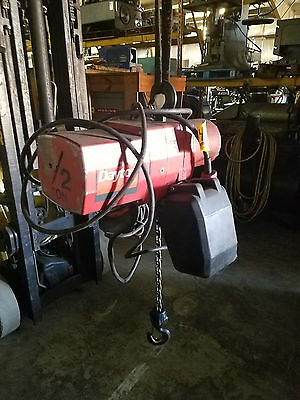 Dayton 12 Ton Electric Chain Hoist 3yb84 16 Fpm 115-230v No Trolley 15 Lift