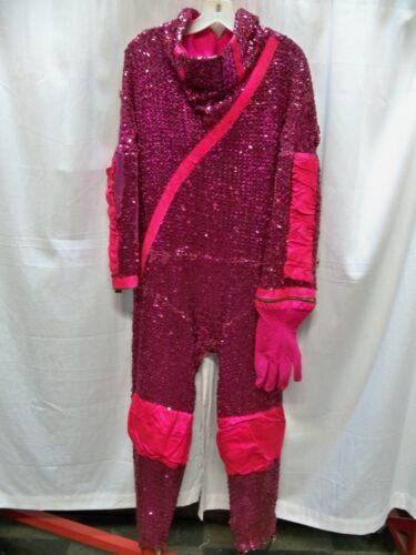 Rock N Roll Outer Space Hot Pink Sequin Jumpsuit Costume  Vintage 1960