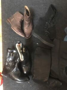 Boots bottes tod's, Burberry, Frye, camper