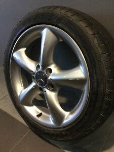 "MERCEDES C320 AMG SPEC 17"" GENUINE ALLOY WHEELS AND TYRES Carramar Fairfield Area Preview"