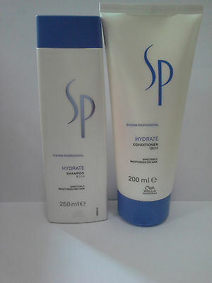 Wella SP HYDRATE Shampoo and Conditioner (Effectively Moisturises Dry Hair)
