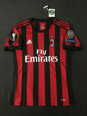 AC Milan Home Jersey Red w/ Europa League Patches Extra Large Italy Shirt XL