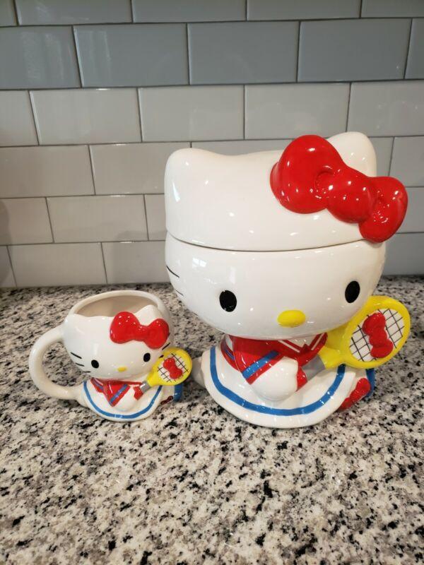 hello kitty cookies jar and coffee mug