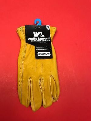Wells Lamont Premium Leather Work Gloves Medium Irregular Cowhide Leather 7209m