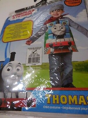 2 Friends Costumes Halloween (Thomas & Friends Costume Child Toddler(2-4) Age 3+  Shirt w/ Foam  Scarf)