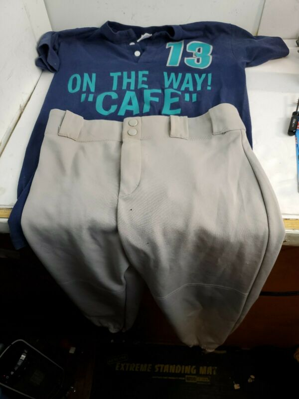 Soffe Vintage 90s kids softball/Baseball Jersey Shirt and pants Youth Large Look