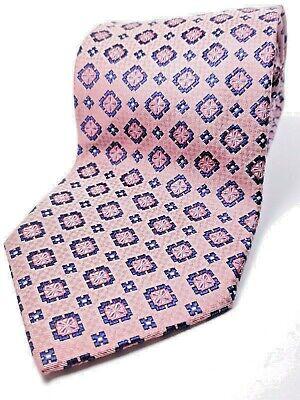 "ALTEA made in ITALY Silk Tie Mens 62"" Long NWOT Pink Blue Necktie"