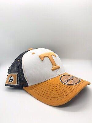 Tennessee Volunteers Hat (Tennessee Volunteers NCAA Zephyr Trucker Snapback Hat Cap White Orange)