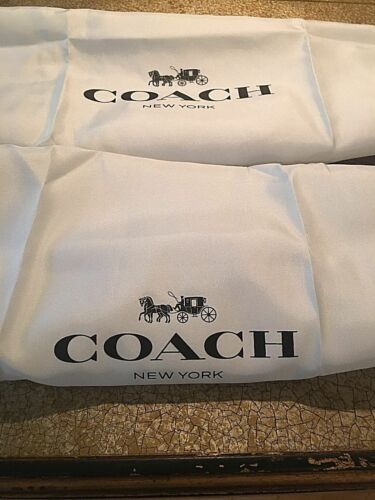 🌺🌹2 New Coach  Drawstring Satin Dust Bag Cover  16