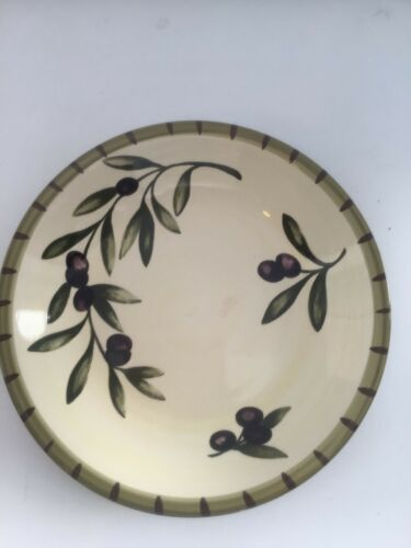 "WILLIAMS-SONOMA LIGURIA OLIVE PASTA Serving BOWL 9 3/4"" MADE IN PORTUGAL"