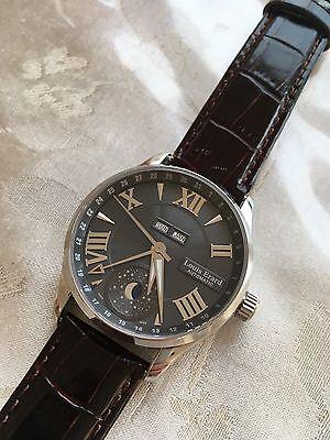 Louis Erard Men's SS Automatic Triple Date Moonphase Watch with Bonus Strap