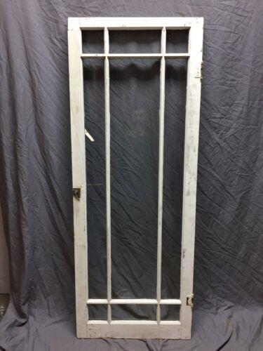 Single Antique 9 Lite Casement Cabinet Window Door 24X63 Vintage Old 328-18C