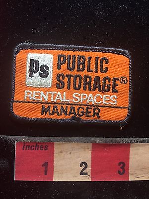 Vtg Manager Uniform Patch Ps Public Storage   Rental Spaces C761