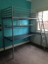 IKEA Loft bunk bed with desk underneath Kotara Newcastle Area Preview
