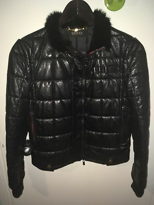 GUCCI Leather Bomber Jacket Size 44IT
