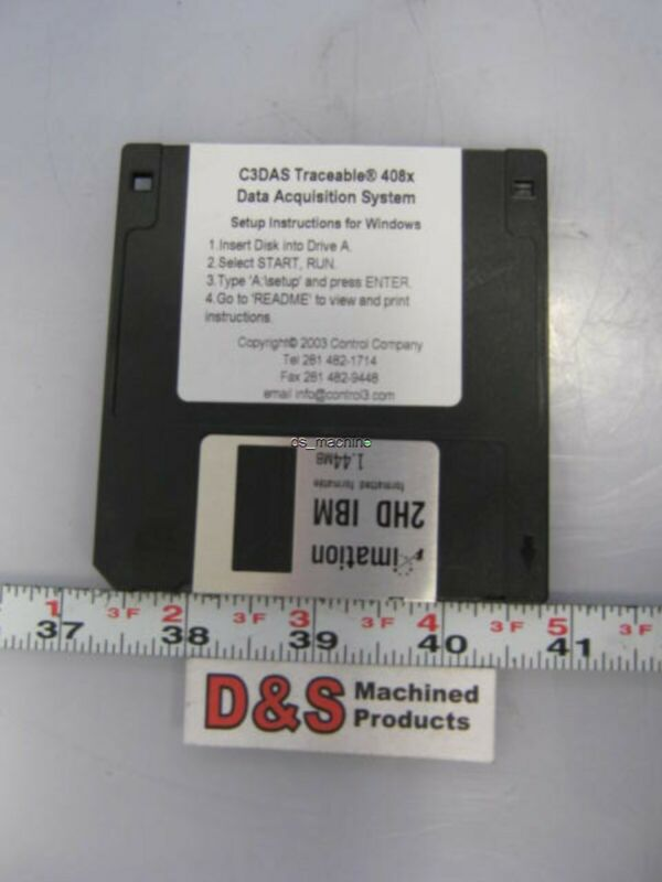New Control Company C3DAS Traceable 408x Data Acquisition System for Windows