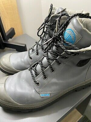 PALLADIUM Men BOOTS  Sz 11 M GRAY LEATHER
