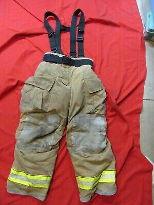 Mfg. 2012 Globe Gxtreme 36 X 30 Firefighter Turnout Bunker Pants Suspenders