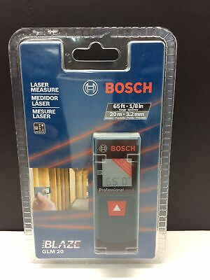 Bosch Blaze Glm 20 Laser Distance Meterindoor65 Ft. Range