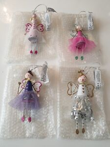 4 X HANGING FAIRY CHRISTMAS/REMEMBERANCE DECORATIONS. RRP £20.00