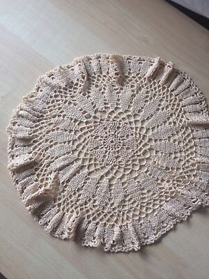 Large Vintage Crochet Table Doilie