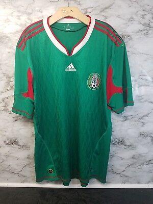 34bcf2b35 Vintage ADIDAS MEXICO SOCCER JERSEY WORLD CUP FUTBOL MX RARE Sz XL c 23