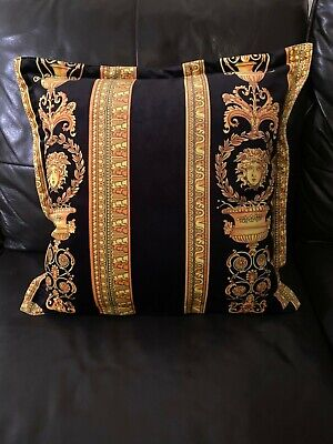 "VERSACE MEDUSA PILLOW HERITAGE COTTON LUXURY DECOR  17"" sale"