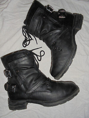 Tamaris Damen Stiefel Stiefeletten Womens Boots Biker Combat Schnürer Gr 37