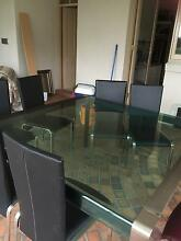 Dinning table with 8lather chair and buffee North Melbourne Melbourne City Preview