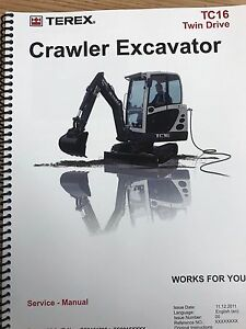 terex manual ebay rh ebay com Terex 760 Backhoe Terex Equipment