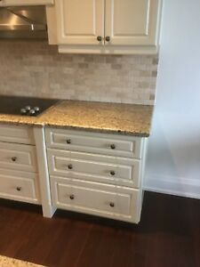 Kitchen cabinets counter top dishwasher cook top sink