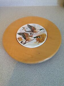 "11.5"" Pine With Canada Geese Lazy Susan"
