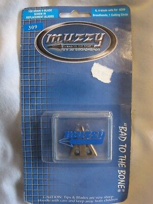 MUZZY REPLACEMENT BLADES MODEL #309 FOR 100 GR SCREW-IN 4 BLADE -