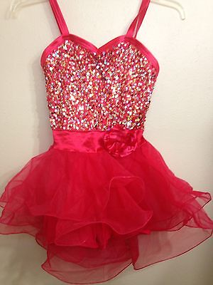 RED DRESS Sequins TUTU - Weissman Ballet Ballerina Tap Dance Costume w Shorts SA