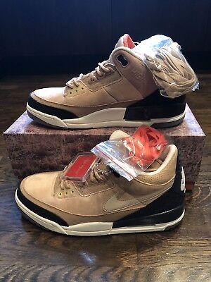 85dd9a015f7 Nike Air Jordan 3 Retro JTH NRG SZ 10.5 Bio Beige Tinker Timberlake AV6683- 200