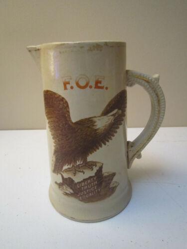 ANTIQUE FRATERNAL ORDER OF THE EAGLES FOE PITCHER