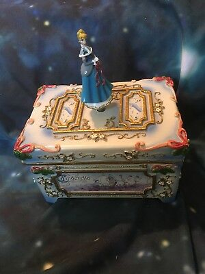"Cinderella Music Box ""We Wish You A Merry Christmas"" Winter Themed Disney"