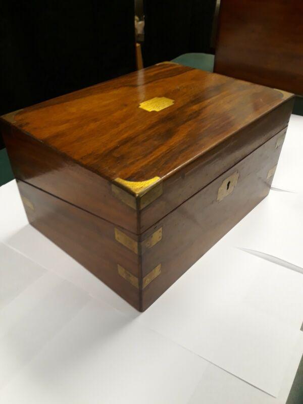 Antique Mahogany Folding Lap Writing Desk. With secret compartment. Beautiful A1