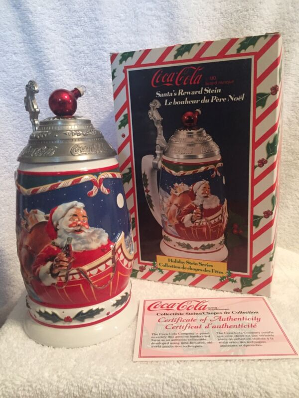 Anheuser Busch Coke Cola Santa's Reward Stein CS402