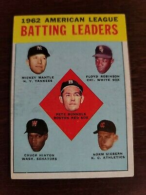 1962 American League Batting Leaders #2