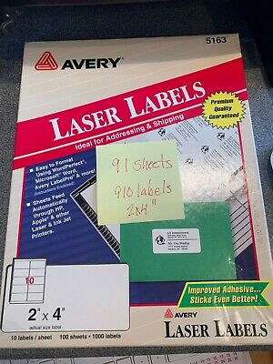 Open Box Of Avery 5163-2x4 Laser Labels 910 Labels