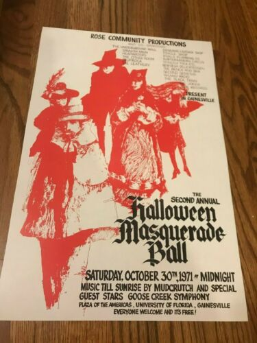 Mudcrutch (Tom Petty) 1971 Gainesville Cardstock Concert Poster 12 x 18
