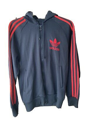 Adidas Originals Black & Red Hoodie Small