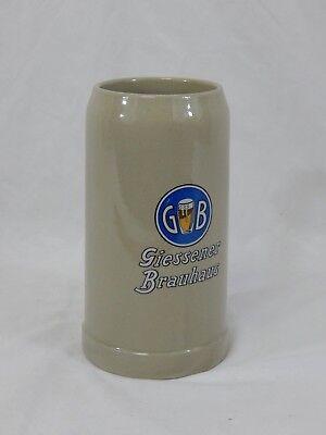 German Stoneware Beer Stien Mug 1L Giessener Brauhaus West Germany ML