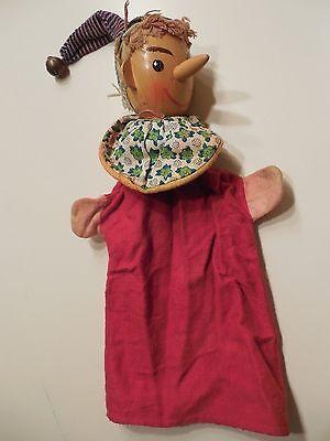 alte Kasperlepuppe Handpuppe mit  Holzkopf
