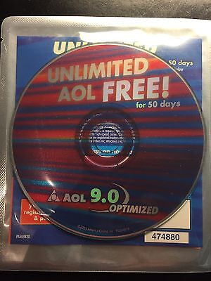 Collectors Cd Aol America Online Unlimited 9 0 Sealed