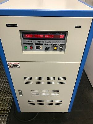Gohz 3 Phase Frequency Converter 10kva 240v In 0-520v Out With 10-400hz