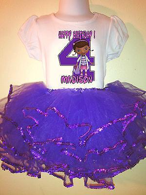 Doc McStuffins  Dress 2 Pc Tutu Outfit 1T,2T,3T,4T,5T,6T,7T,8T - Doc Mcstuffins Tutu Outfit
