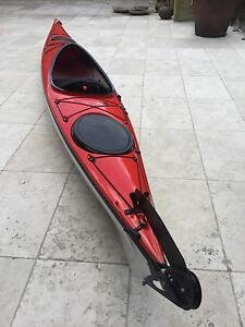 HURRICANE KAYAK LIGHTWEIGHT WITH CARBON PADDLE Collaroy Manly Area Preview